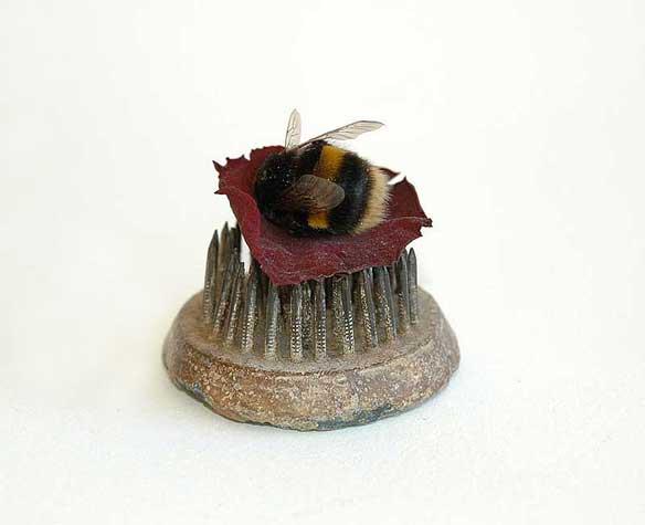 Bumblebee-rose-petal-shrine-Sharnae--Beardsley