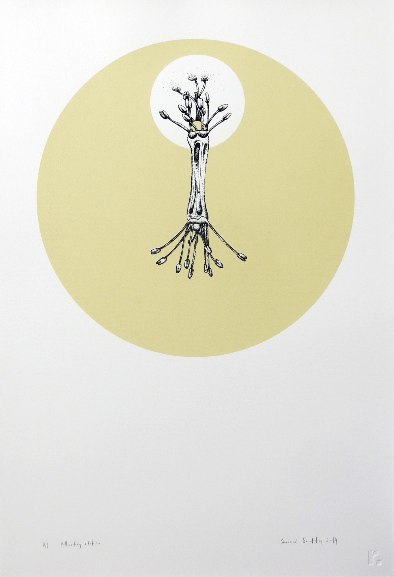 'Pollination Edition' (2014), edition of 12 for rubble.inc Summer 2014/15 Collection, 390x560mm